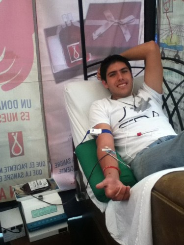donation blood at camp