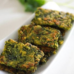 coriander fritter - Kothimbir vadi