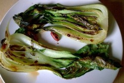 grilled bok choy with soy