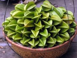 basket full of starfruit