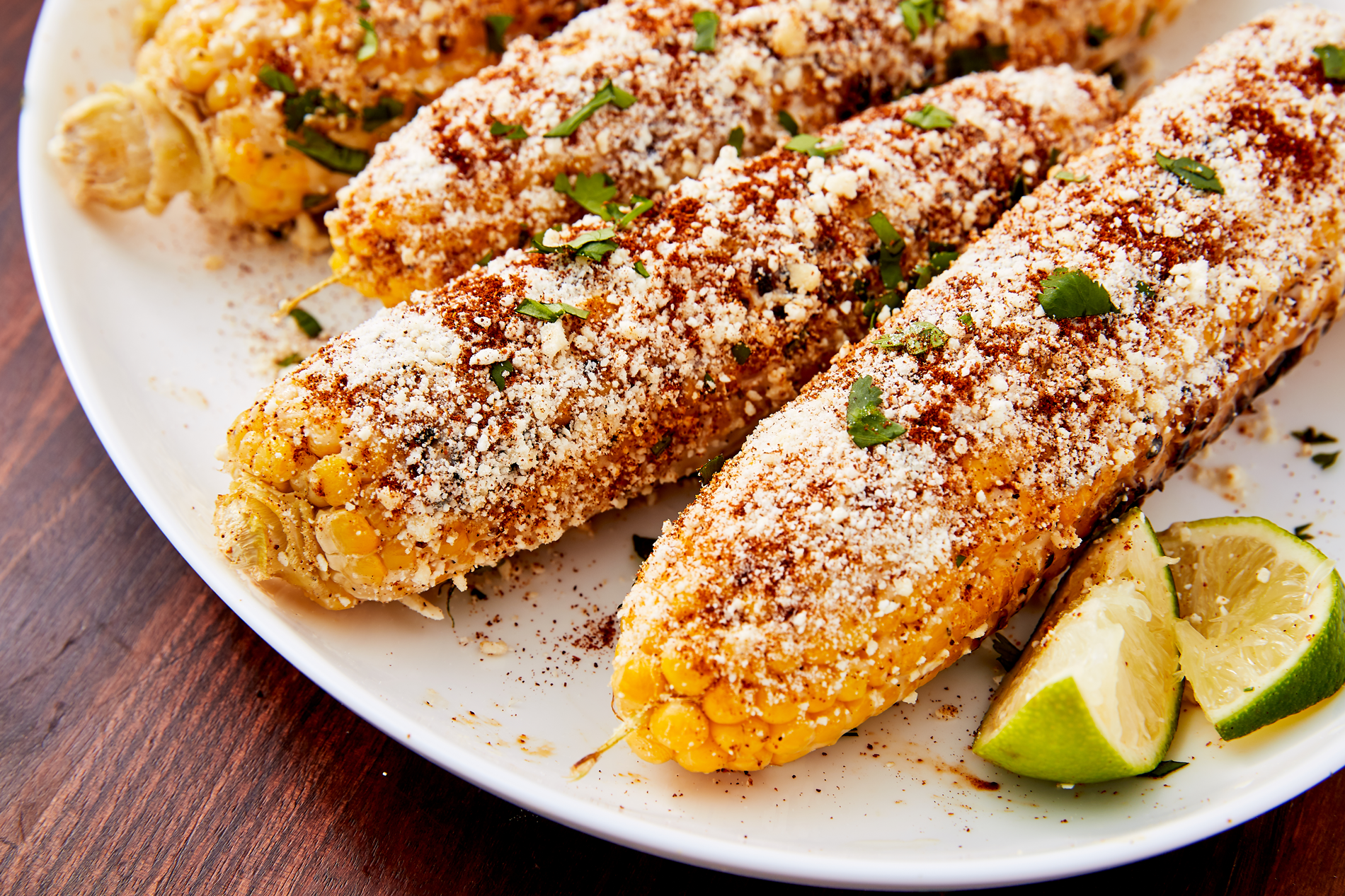 Delicious mexican street corn