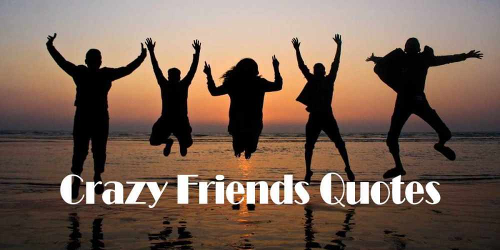 Express your feeling to your crazy friends with crazy friends quotes funny.